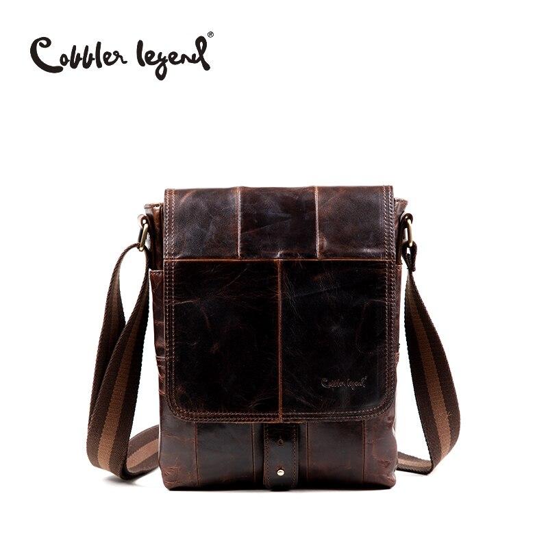 Cobbler Legend Fashion Men's Travel Business Shoulder Bag Briefcase Real Genuine Leather Solid Messenger Crossbody Bags #910038# cobbler legend 2015 messenger 100
