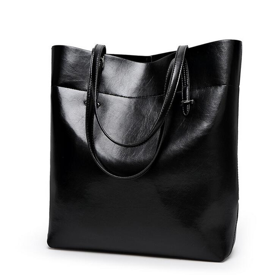New Arrivals Genuine Leather Women Bag Bucket Shoulder Bags Solid Big Handbag Large Capacity Top-handle Bags Fashion Tote 2017 new women genuine leather bucket handbag fashion panelled color large capacity female single shoulder bag bbh1346