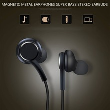Magnetic Metal Earphones Super Bass Stereo Earbuds Sweatproof Headsets with Mic
