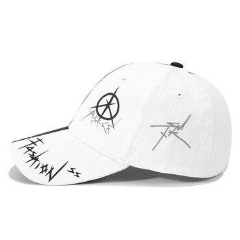Black / White Cotton Baseball Cap 3