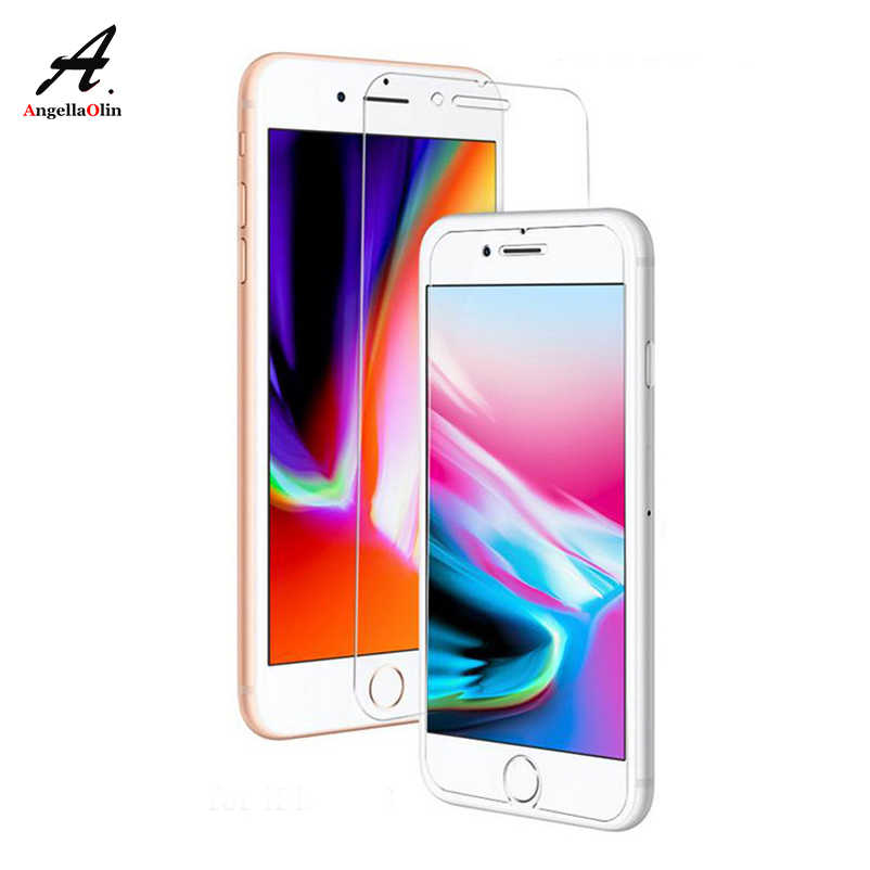 "9H tempered glass screen protector For iphone 11 Pro Xs Max XR 7 7S X 8 4 4s 5 5s 5c SE 6 6s 10 plus 6.1"" film case"