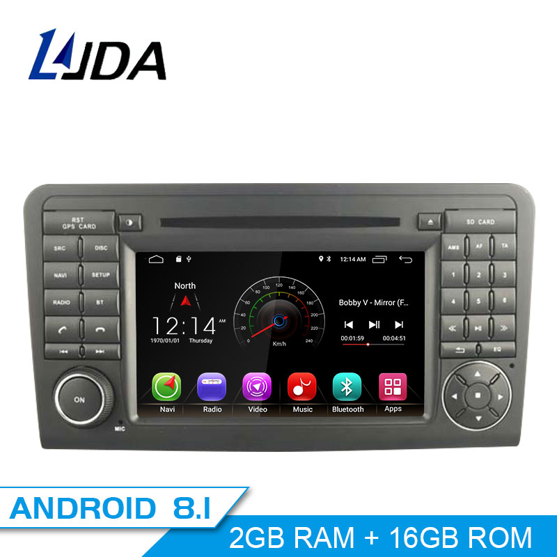 LJDA 2 Din Android 8.1 Autoradio Per Mercedes Benz ML CLASS W164 ML350 ML300 Car Multimedia Lettore Audio Stereo DVD GPS WIFI IPS