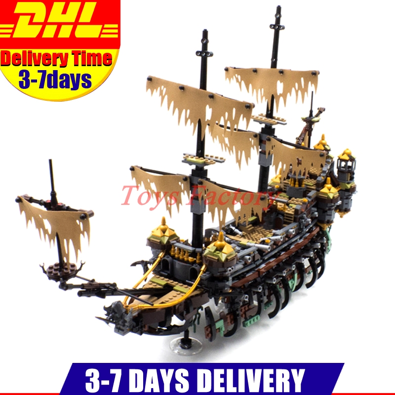 LEPIN 16042 2344PCS Pirate of The CaribbeanThe Slient Mary Set Children Educational Building Blocks Bricks Toys Model Gift 71042 lepin 16042 2344pcs new pirate ship series building blocks the slient mary set children educational bricks toys model gift 71042