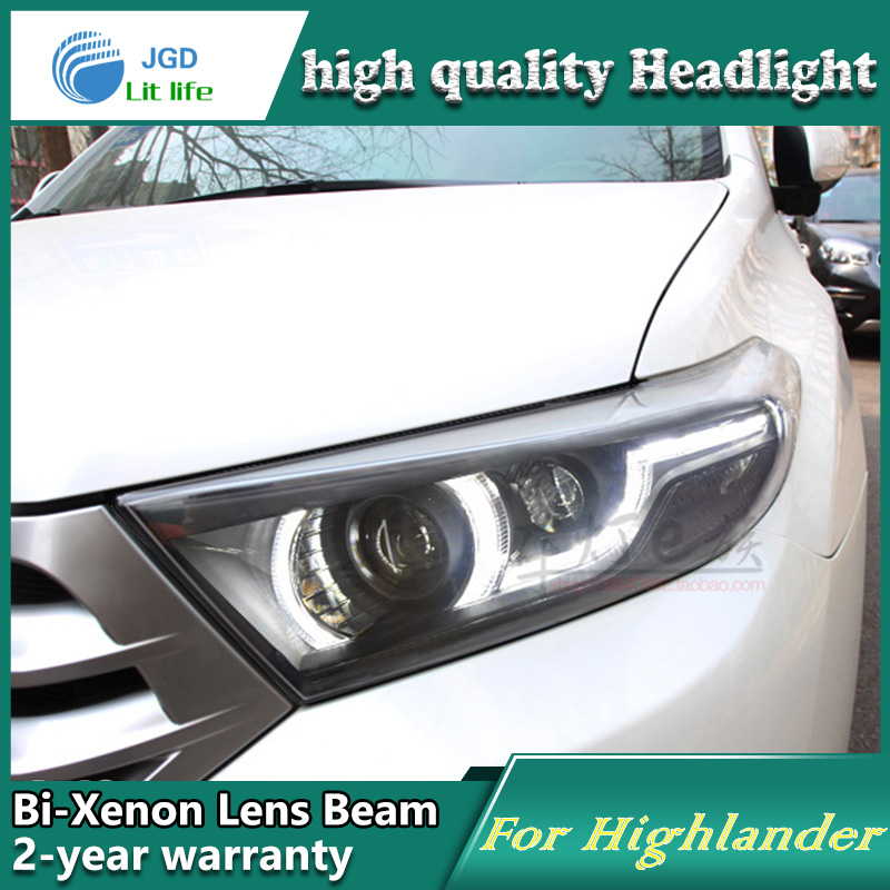 Car Styling Head Lamp case for Toyota Highlander 2012-2014 LED Headlights DRL Daytime Running Light Bi-Xenon HID Accessories new car styling auto lamp for toyota highlander 2012 2014 type c led daytime running light drl car accessories