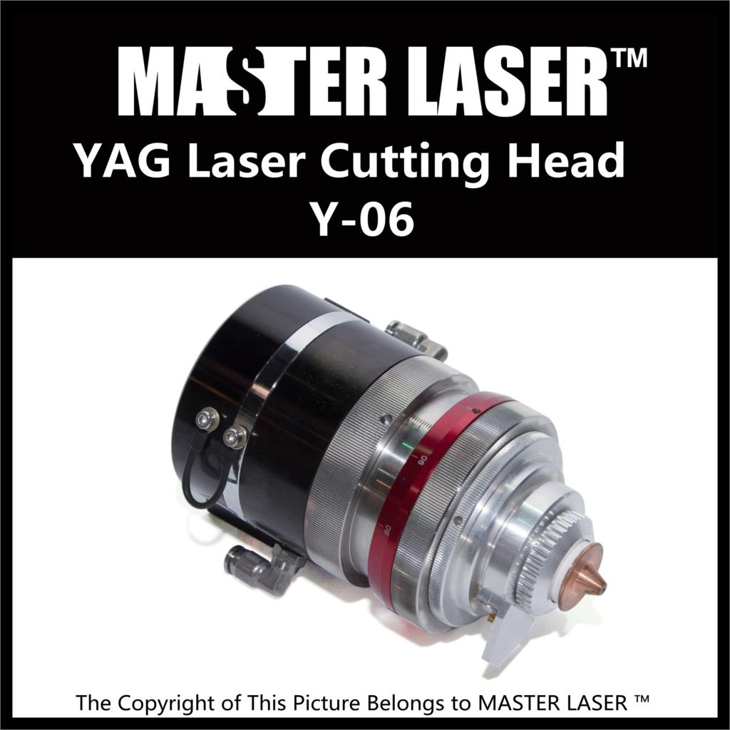 Qualified Products 1064nm YAG Laser Cutting Machine Head Y-06 Lens Diameter 42mm Cutting Laser Heads 532nm nd yag laser head probe tip for sale