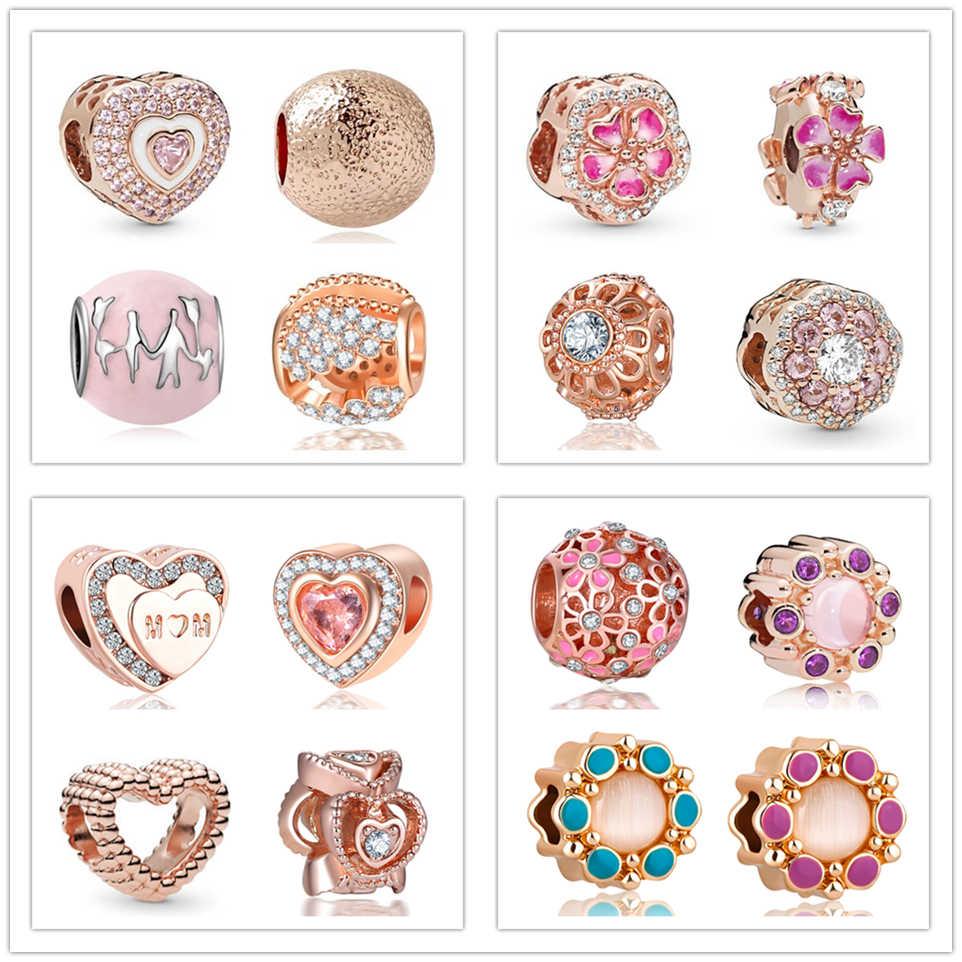 pandora bracelet rose gold charms