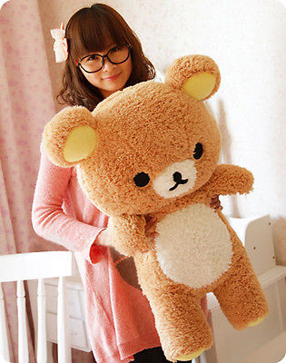 2016 Stuffed Kawaii Gift San-x Rilakkuma Relax Bear 55cm Soft Pillow Plush Toy Doll Kawaii Kids Stuffed Toys For Children Dolls 2018 huge giant plush bed kawaii bear pillow stuffed monkey frog toys frog peluche gigante peluches de animales gigantes 50t0424