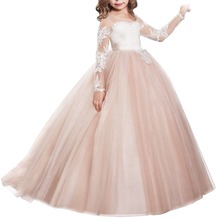 High-end Customization Girl Dress For Baby Kids Girls Bridesmaid Party Graduation Princess Formal Gown Long Dresses 2-13Y