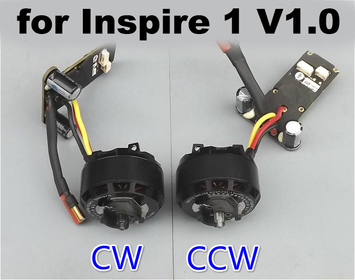 Original DJI Inspire1 V1.0 Drone Replacement Motor ESC Part 5 CCW CW 3510 Engine Speed Controller with Propeller Base Mount 4set lot original emax mt2216 810kv plus thread brushless motor 2 cw 2 ccw for multirotor quadcopters with 1045 propeller