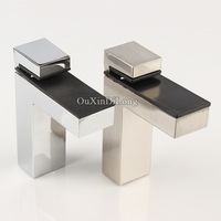 HOT 4PCS Adjustable F Shape Glass Clamps Clips Glass Wood Shelf Support Fixed Holder Bracket For
