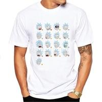 Summer New Anime Cool Rick Morty Print Men T Shirt 2017 Peace Among Worlds Folk T