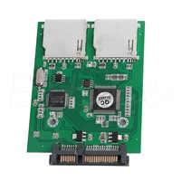 Convertisseur adaptateur New2 Port double SD SDHC MMC RAID vers SATA pour toute carte SD de capacité