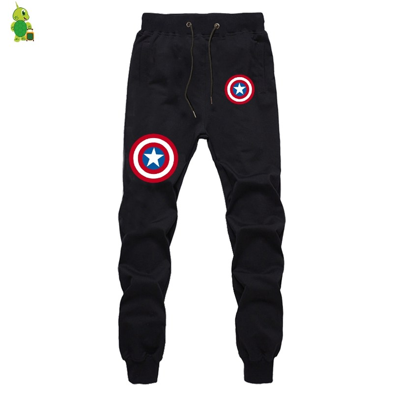 Captain America Pants Sweatpants Men Joggers Sportswear Pant Streetwear Casual Pants Fashion Fitness Sweatpants Long Trousers