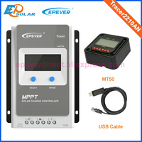 MPPT high efficiency Tracer2210AN 20A 20amps EPEVER Solar portable controller 12V/24V lcd display USB communication cable