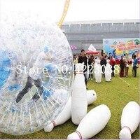 Бесплатная доставка 6 шт. много и 1 шт.. надувной шар Зорб человеческий Боулинг игра Zorb мяч для боулинга открытый человеческий Боулинг