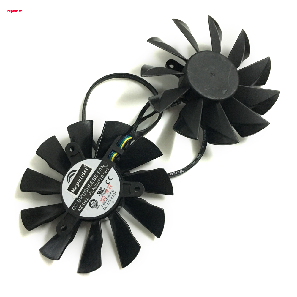 2 Pcs/Lot HD6970 HD7970 GPU VGA Cooler PLA09215B12H graphics card Fan For MSI R6970 R7970 Lightning Video card cooling free shipping 90mm fan 4 heatpipe vga cooler nvidia ati graphics card cooler cooling vga fan coolerboss