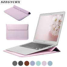 Защитная сумка из искусственной кожи для Macbook Air 13 Pro retina 12 15 чехол для ноутбука Macbook new Air 13 A1932 чехол-подставка A2159