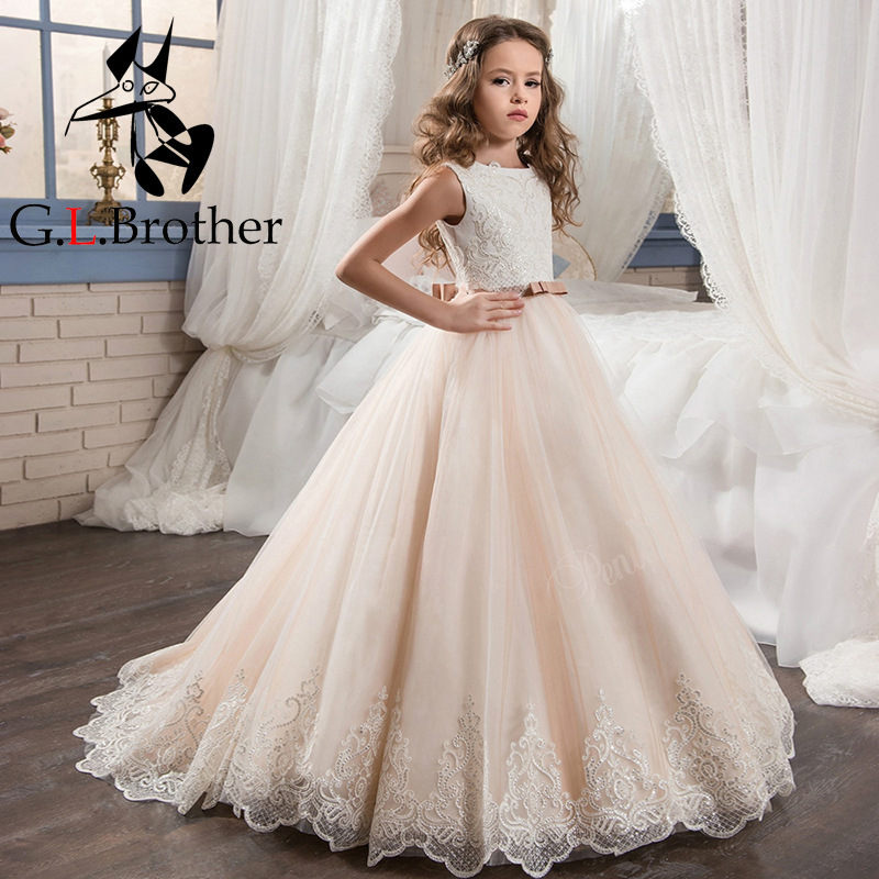 Luxury Princess Dress Small Trailing Flower Girl Dresses Wedding Sequins Appliques Lace Holy Communion Dress Kids Birthday Party 6pcs semi metallic non asbestos front rear brake pad for cfmoto cf500 500cc cf600 600 600cc x5 x6 x8 u5 atv utv 9010 0808ao