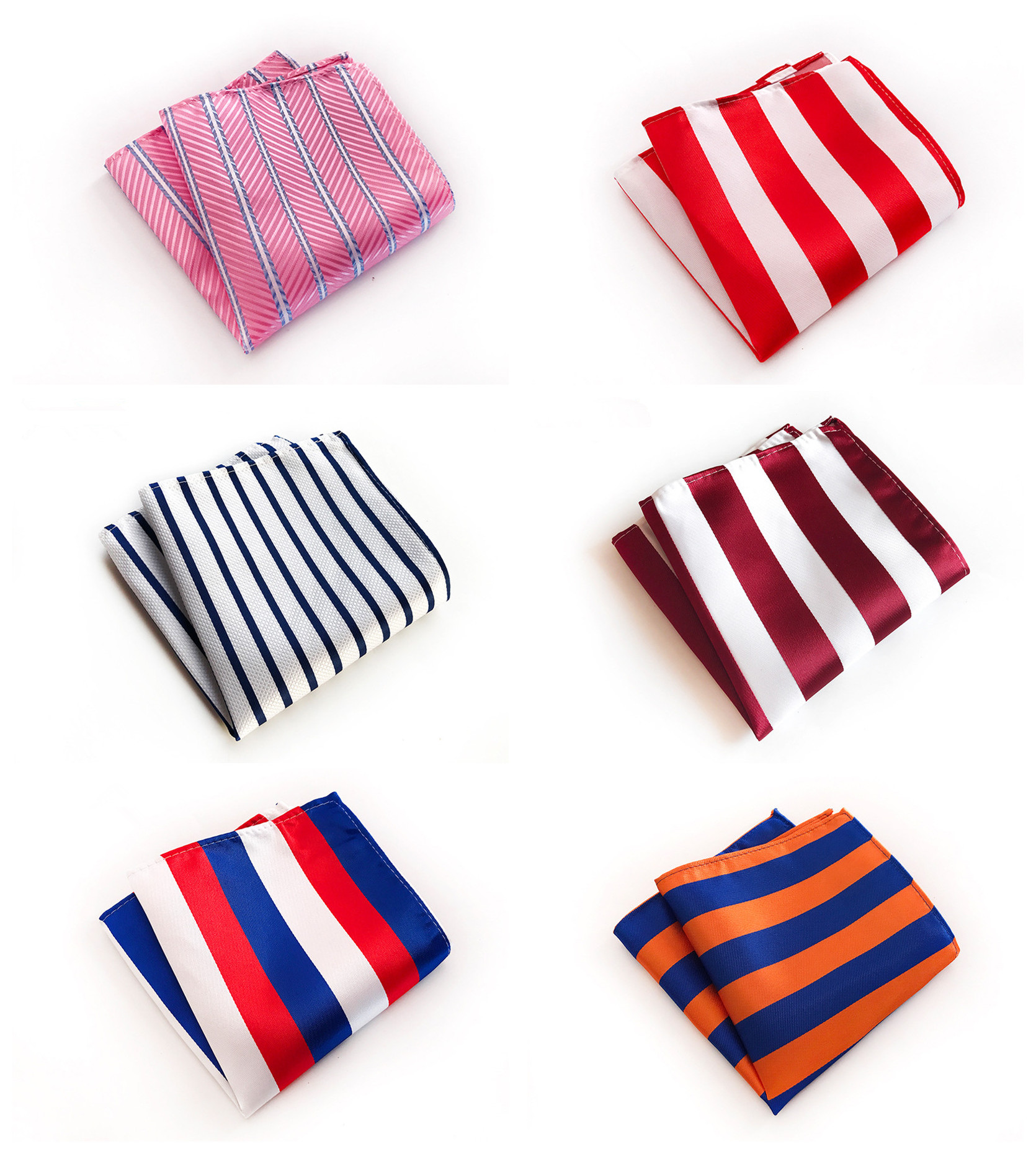High Quality Explosion Models 25x25cm Multicolor Striped Polyester Pocket Towel Fashion Design Men's Business Dress Pocket Towel