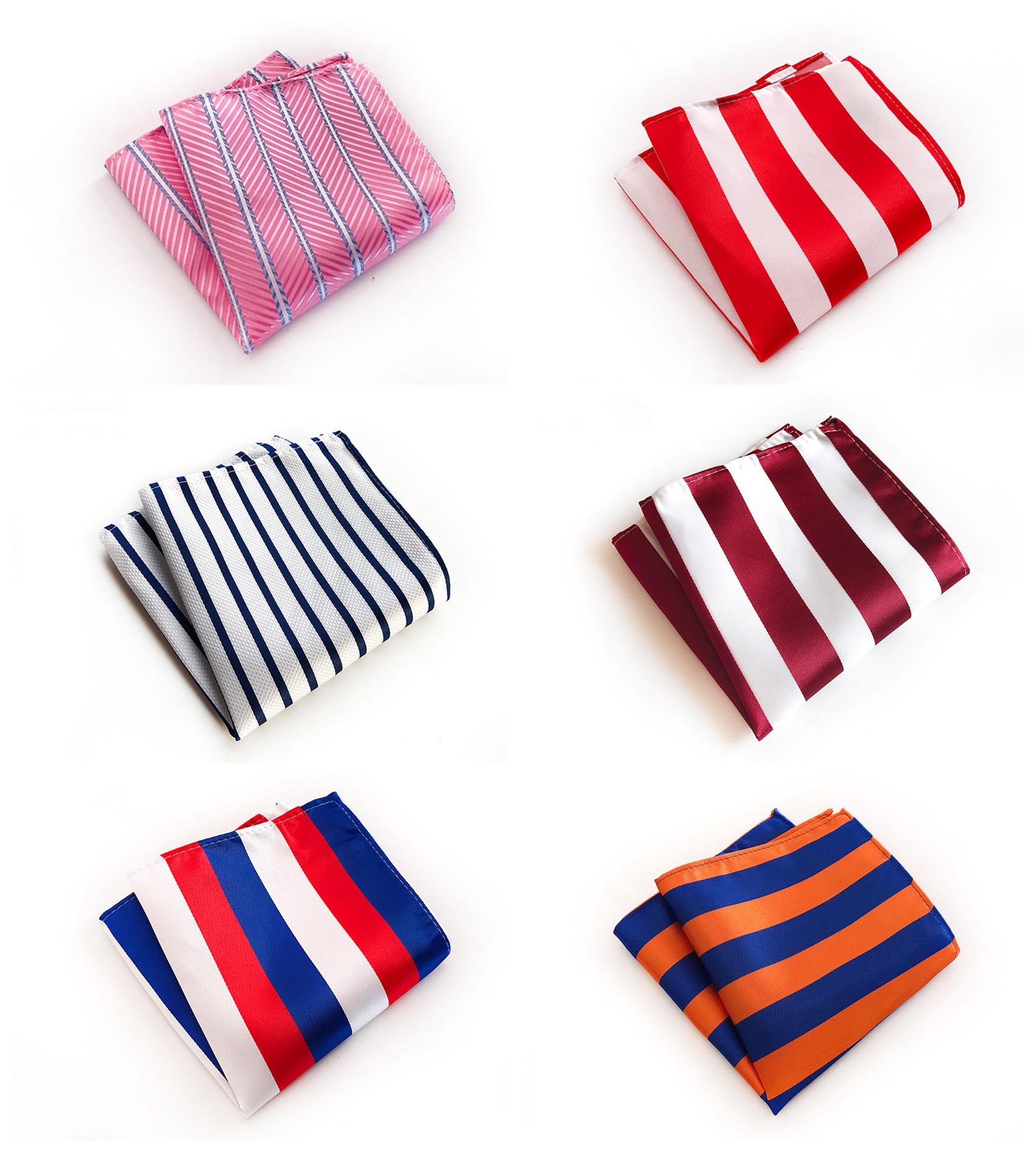 High Quality Explosion Models 25x25cm Multicolor Striped Polyester Pocket Towel Fashion Design Men's Business Dress Pocket Towel