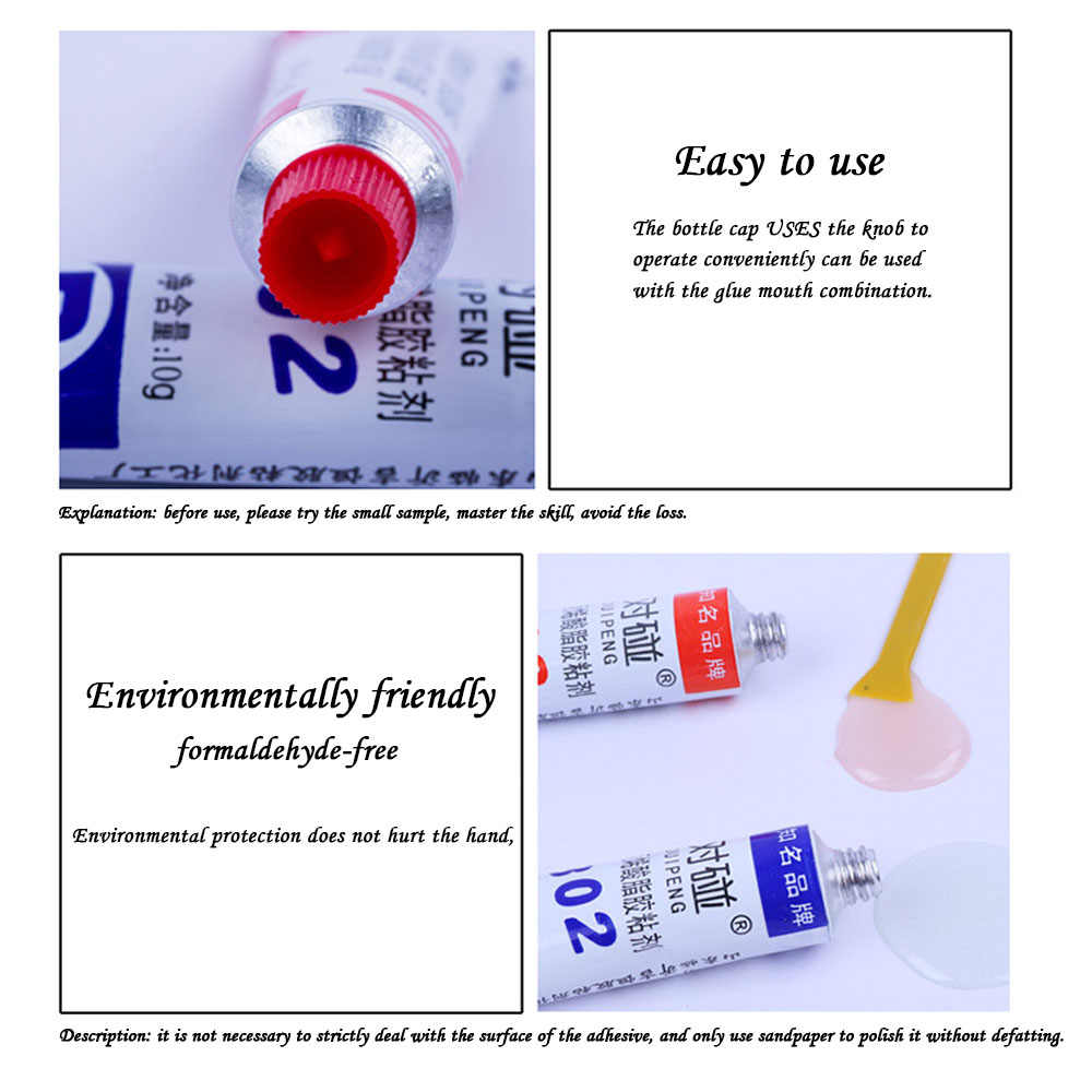 2pcs/set AB epoxy resin translucent glue 20G Super adhesive structure For  Glass Ceramic Stationery Office Material Easy To use