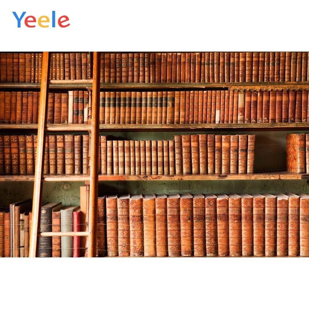 Yeele Vinyl Library Bookshelf Books Ladder Children Birthday Party Photograph Backdrop Wedding Photocall Background Photo Studio