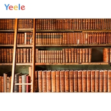Yeele Vinyl Library Bookshelf Books Ladder Children Birthday Party Photograph Backdrop Wedding Photocall Background Photo Studio