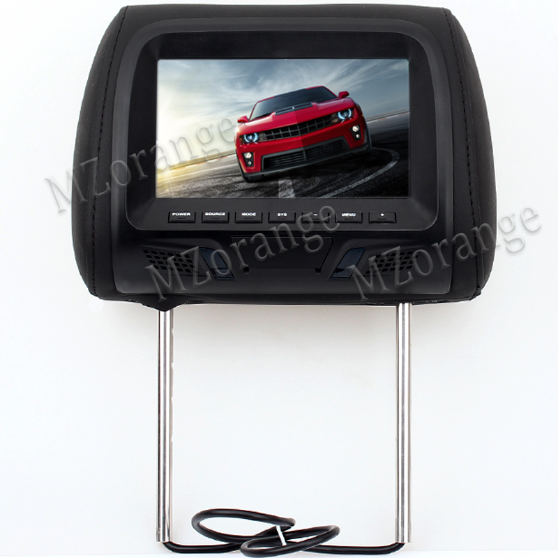 Universal 7 inch TFT LED screen Car MP5 player Headrest monitor Support AV/FM/Speaker/Car camera No USB NO SD card NO DVD