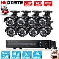 8CH CCTV System 1080P HDMI AHD 8CH CCTV DVR 8PCS 1 0 MP IR Security Camera
