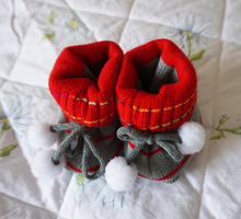 Newborn Toddler Crochet Shoes  Lovely Baby Shoes Baby Crib Shoes With Yarn Double Layers Year-round Available 0-12 Months
