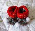 Sapatos de Crochê Da Criança recém-nascidos Encantadores Sapatos de Bebê Sapatos Berço Do Bebê Com Fios Camadas Duplas Ano-round Disponível 0-12 Meses