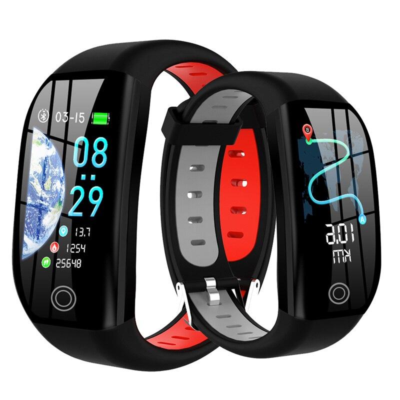 F21 Bracelet intelligent GPS traqueur d'activité de remise en forme à Distance IP68 étanche montre de pression artérielle moniteur de sommeil Bracelet intelligent