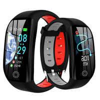 Pulsera inteligente F21 GPS rastreador de actividad física a distancia IP68 reloj de presión arterial impermeable Monitor de sueño pulsera inteligente con correa