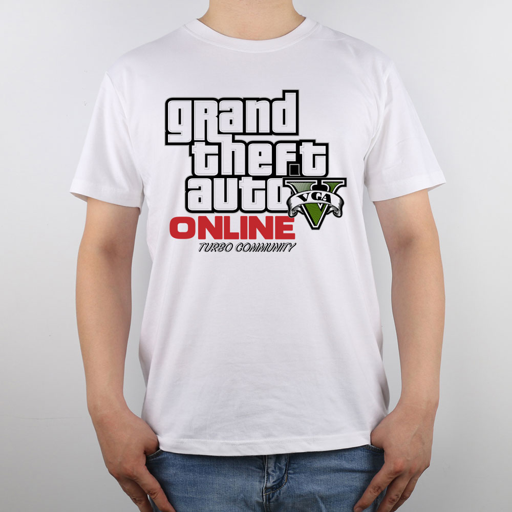 Design t shirt logo online - Gta Grand Theft Auto Online Logo T Shirt Top Pure Cotton Men T Shirt New