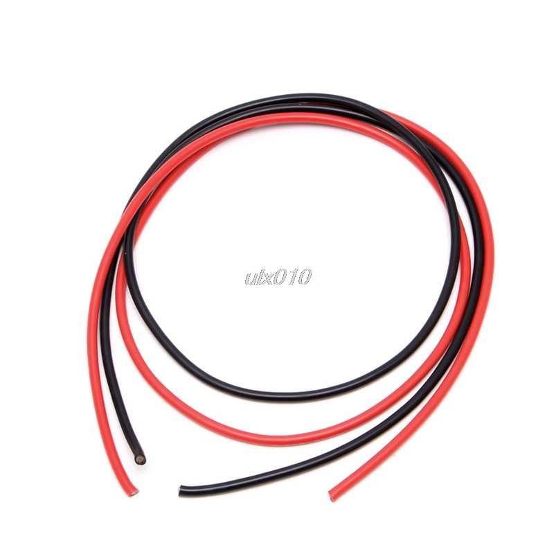 フレキシブル銅ケーブルワイヤー 10AWG 12AWG 14AWG 16AWG 22AWG 24AWG 26AWG 5 メートルゲージ本鎖シリコーンケーブルワイヤー rc 黒 + 赤