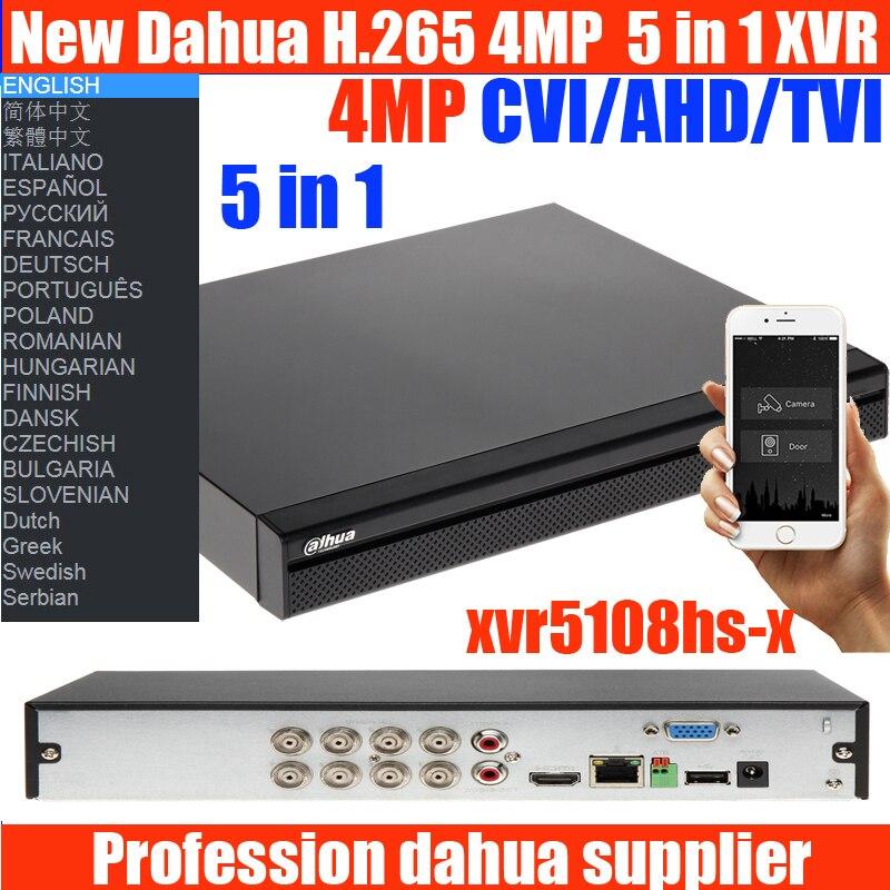2018 Dahua new H.265 XVR video recorder 8ch DH-XVR5108HS-X 16ch DH-XVR5108HS-X Support 5MP HDCVI/ AHD/TVI/CVBS/IP Camera dahua xvr video recorder xvr5408l xvr5416l xvr5432l 8ch 16ch 32ch 1080p support hdcvi ahd tvi cvbs ip video inputs
