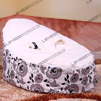 FREE SHIPPING baby bean bag cover with 2pcs white up cover baby seat cover baby bean bag seat baby beanbag bean bag furniture