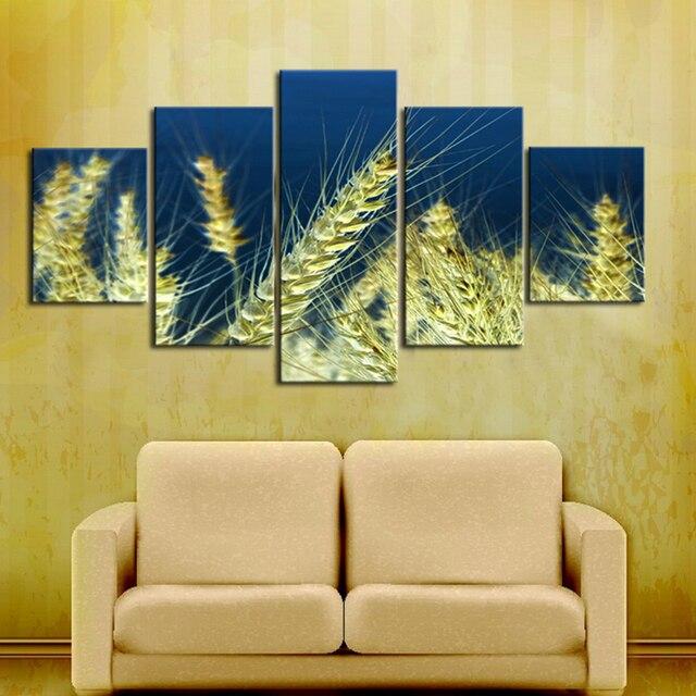 Spray Painting Waterproof Ink Canvas Printings Wheat Canvas Wall Art ...