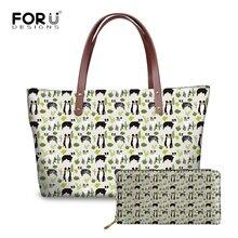 FORUDESIGNS Australian Shepherd Printing Women Handbags Bags PU Leather  Purse Shoulder Bag Ladies Causal Totes Bolsas f43cae6aa2dd7