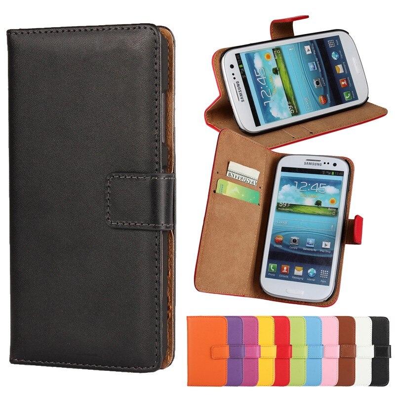 Galleria fotografica Flip Cases For Samsung Galaxy S3 Mini S3mini SIII S III Coque Etui Capinha Phone Case Accessory Leather Wallet Cover Capa Hoesje