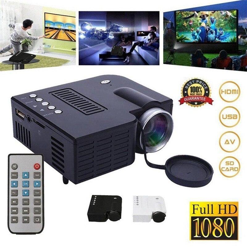UC28A Portable 1080P Full HD Mini Projector Home Theater Cinema AV SD USB HDMI US EU