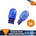 2PCS T20 Bulb Natural Glass Blue 7443 580 W21/5W DRL Bulbs Double Filaments W3*16q Super White For Vauxhall ASTRA J Polarg M13