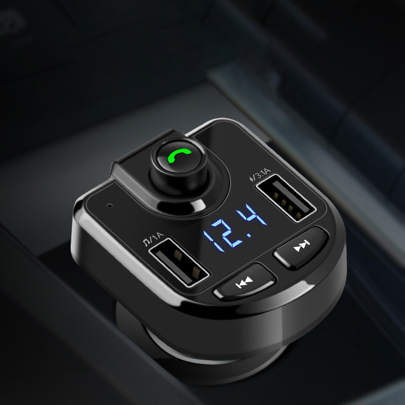 Thbelieve Privater Model 3.1A Bluetooth Luxury Car Chargers 2 USB LED Voltage Display Fashion Car Charge Dual USB Auto-Charging executive car