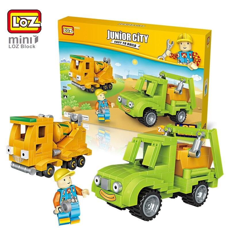 LOZ блоков техника Voiture RC Камион Benne Jouets Betonniere мини Modele де voiture Oyuncak араба Amusant служащим En Plastiq