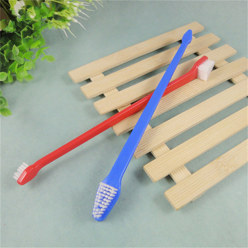 2 Pcs Dog Toothbrush Cat Pet Dental Grooming Washing Tooth Brush Pet Tooth Cleaning Tools random color