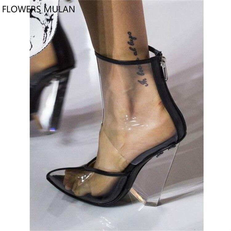 Plus Size Moda T Mostrar Mulheres Botas Sandálias Chiques Cut outs Superior Primavera Outono Sapatos Mulher Apontou Cunhas Dedo Do Pé claros Saltos Pista