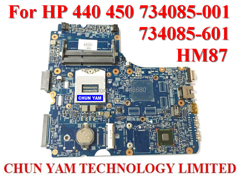 ФОТО WHolesale Laptop motherboard 734085-001 for HP Probook 440 450 G1 734085-601 HM87 Notebook PC 734085-501 tested 90 Days Warranty