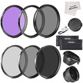 Neewer 77MM Must Have Lens Filter Accessory Kit for CANON 24-105MM, 10-22MM, 17-40MM and for NIKON 28-300, DSLR Zoom Lenses