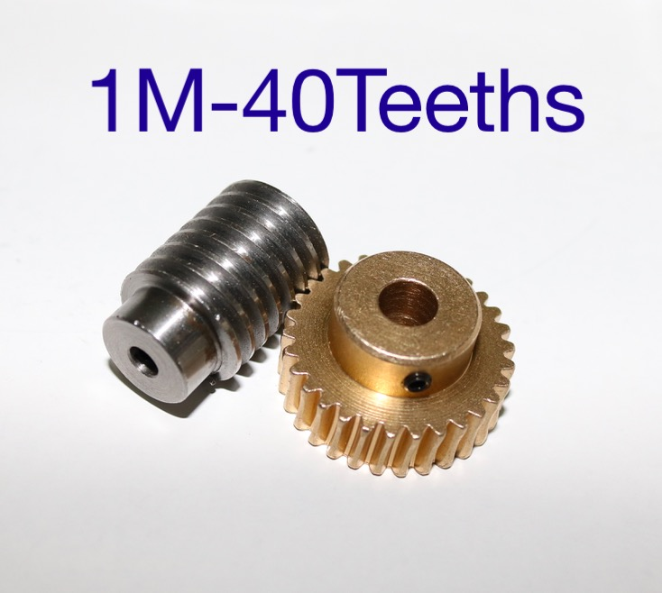 1M- 40Teeth 1:4 precision copper worm gear rod screw machine parts gear hole:8mm rod hole:6mm henglong 3839 3839 1 us m41a3 1 16 rc tank upgrade parts metal track 2pcs set free shipping