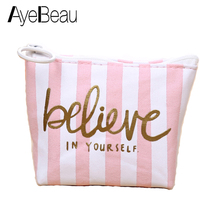 Cute Zipper Small Neceser Vanity Beauty Mini Organizer For Girl Women Makeup Cosmetic Make Up Bag In Case Pouch Purse Female